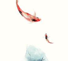 TRANDITIONAL CHINESE PAINTING - FISHES by deviloblivious