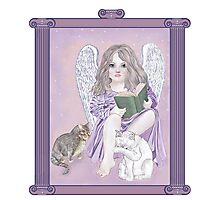Angel Wings and Cat Tales Photographic Print