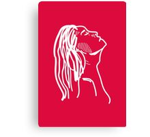 Red Girl Sketch Canvas Print