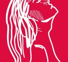 Red Girl Sketch Sticker