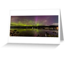 Beautiful Aurora australis in tasmania Greeting Card