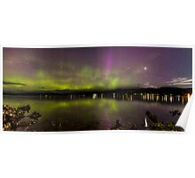 Beautiful Aurora australis in tasmania Poster