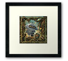 Lonesome Road -  A 3D Anaglyph illustration Framed Print