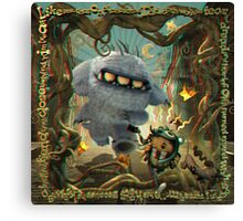 Lonesome Road -  A 3D Anaglyph illustration Canvas Print