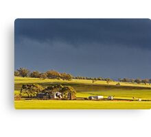 Storm Clouds Over Canola Canvas Print