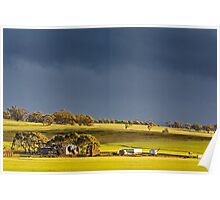 Storm Clouds Over Canola Poster