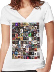 hip hop albums Women's Fitted V-Neck T-Shirt
