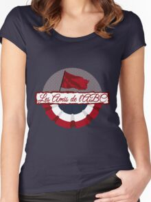 Les Amis de l'ABC logo Women's Fitted Scoop T-Shirt