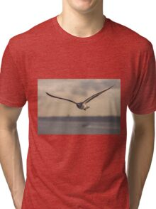 flying bird in Portugal transparent for clothing  Tri-blend T-Shirt