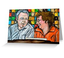 Archie and Edith Bunker  Greeting Card