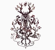 Cernunnos Pagan God with Horns and Caducé crossover Paganart One Piece - Short Sleeve