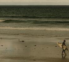 lone surfer Sticker