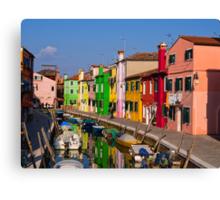 Colorful Burano Canvas Print
