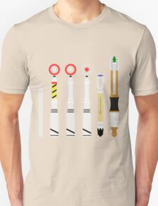 Simplistic Sonic Screwdrivers lineup T-Shirt
