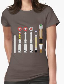 Simplistic Sonic Screwdrivers lineup Womens Fitted T-Shirt