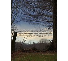 Quote by J.R.R., Tolkien on Scene of Nature Photographic Print