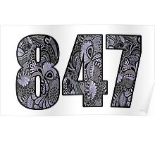 847 Doodle Poster