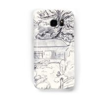 Moon Viewing House ~ Sketch Samsung Galaxy Case/Skin