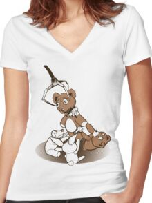Crane Game Women's Fitted V-Neck T-Shirt