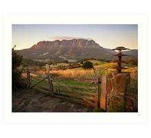 Mt Roland at Sunrise Art Print
