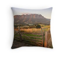 Mt Roland at Sunrise Throw Pillow