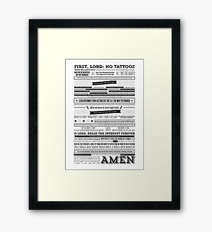 A Mother's Prayer for Her Daughter by Tina Fey Framed Print