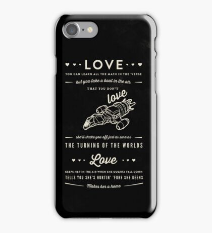 Love - Capt. Malcolm Reynolds (Serenity) iPhone Case/Skin