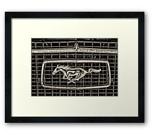 Mustang car Framed Print