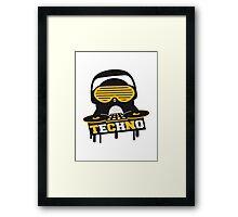Techno Penguin DJ Framed Print