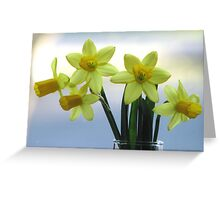 Whisper of Spring on the Windowsill Greeting Card