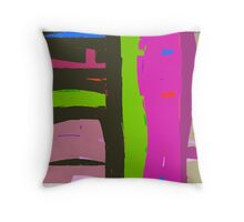 Bright coloured abstract. Throw Pillow
