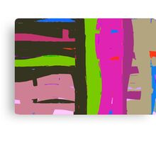 Bright coloured abstract. Canvas Print