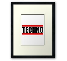 Techno Logo Design Framed Print
