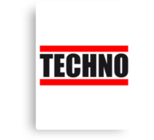 Techno Logo Design Canvas Print