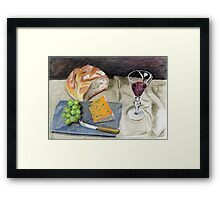 Crusty Bread and Cheese Framed Print