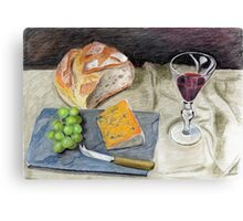 Crusty Bread and Cheese Canvas Print