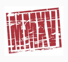 MMXV 2015 in Roman Numerals Red Rubber stamp by stuwdamdorp