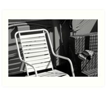 Chair and Gloves Art Print