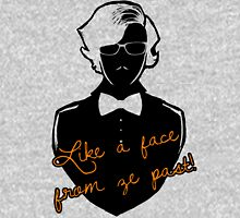 Like a face from ze past Womens Fitted T-Shirt