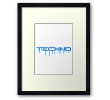 Techno Graffiti Framed Print