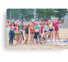 Surfer Girls of Manly do Christmas Canvas Print