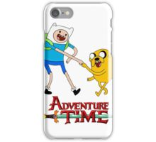 Adventure Time  Jake and finn first bump iPhone Case/Skin