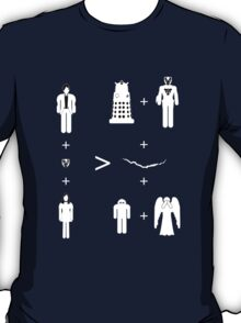 Doctor Who Maths - Trenzalore Edition, Clara (white T-Shirt
