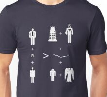 Doctor Who Maths - Trenzalore Edition, Clara (white Unisex T-Shirt