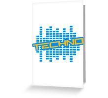 Equalizer Techno Logo Greeting Card