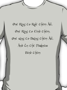One Ring-LOTR T-Shirt