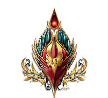 World of Warcraft - Blood Elf Crest by NellyMushBean