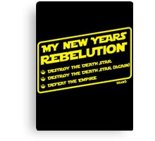 New Year's Goals Canvas Print