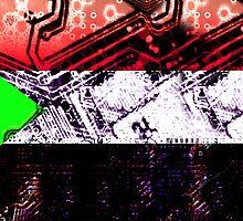 sudan circuit board (flag) by sebmcnulty