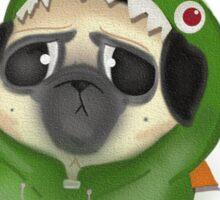 Rawr: the dinosaur pug Sticker